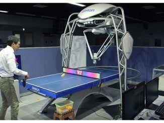 Forpheus robot Omron juega ping-pong