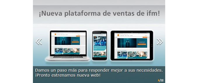 Nueva plataforma de ventas de IFM