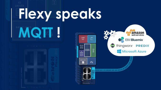 eWON Flexy respalda el protocolo MQTT para la adquisición de datos