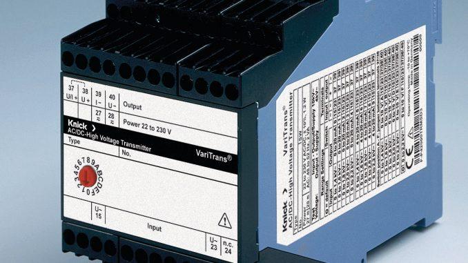 Los transductores Knick miden valores RMS reales en corrientes CA hasta 5 A