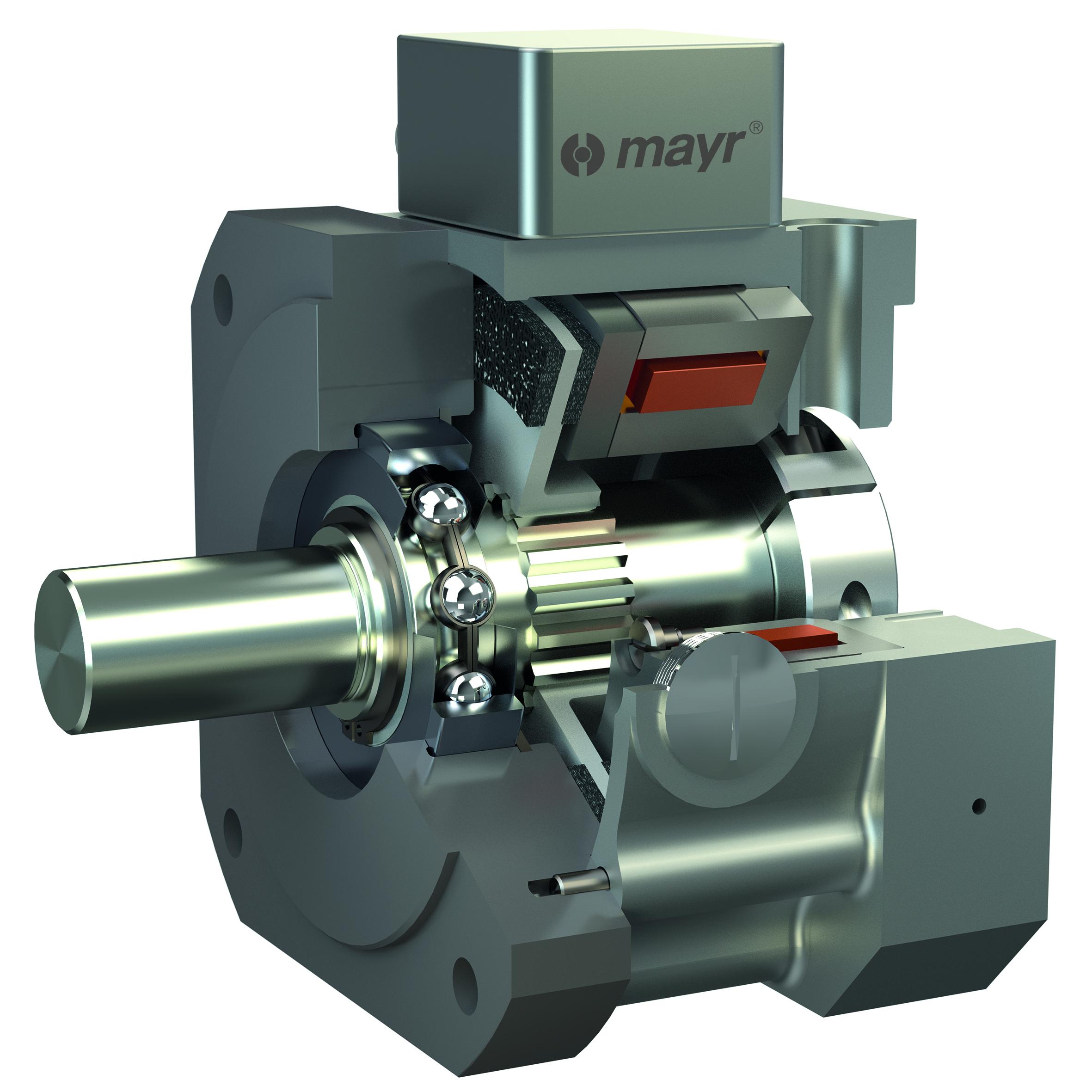 Los nuevos módulos de mayr® como el ROBA®-brake-checker garantizan supervisión y control de frenos inteligente