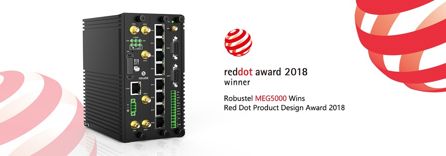 La pasarela MEG5000 de Robustel gana el Red Dot Product Design Award 2018