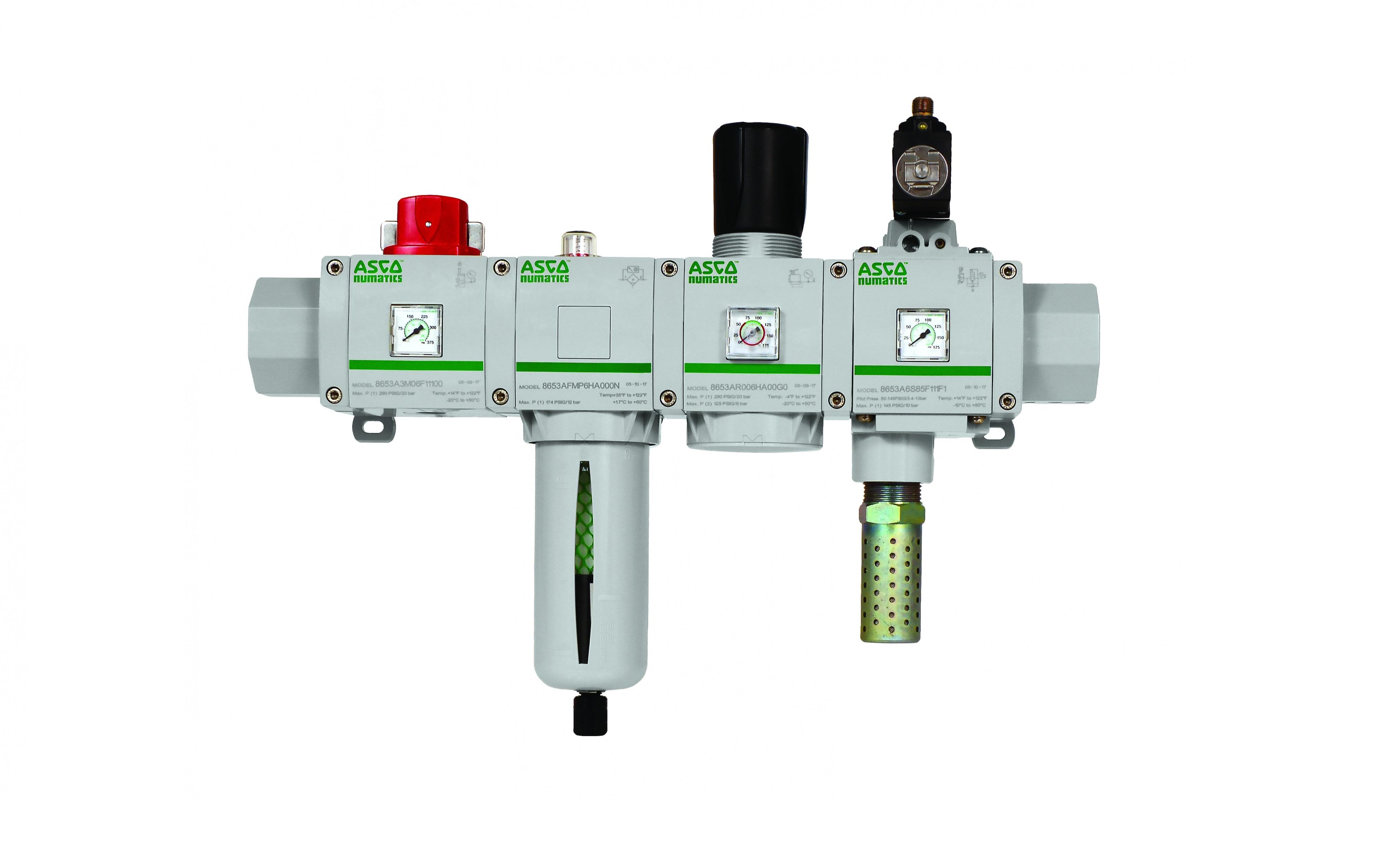 La nueva serie 653 de ASCO Numatics de tratamiento de aire sinónimo de ahorro