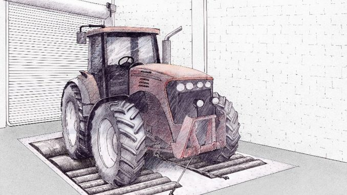 El dinamómetro de chasis de Danfoss para vehículos off-road se matricula en Iowas off-road de Danfoss se matricula en Iowa