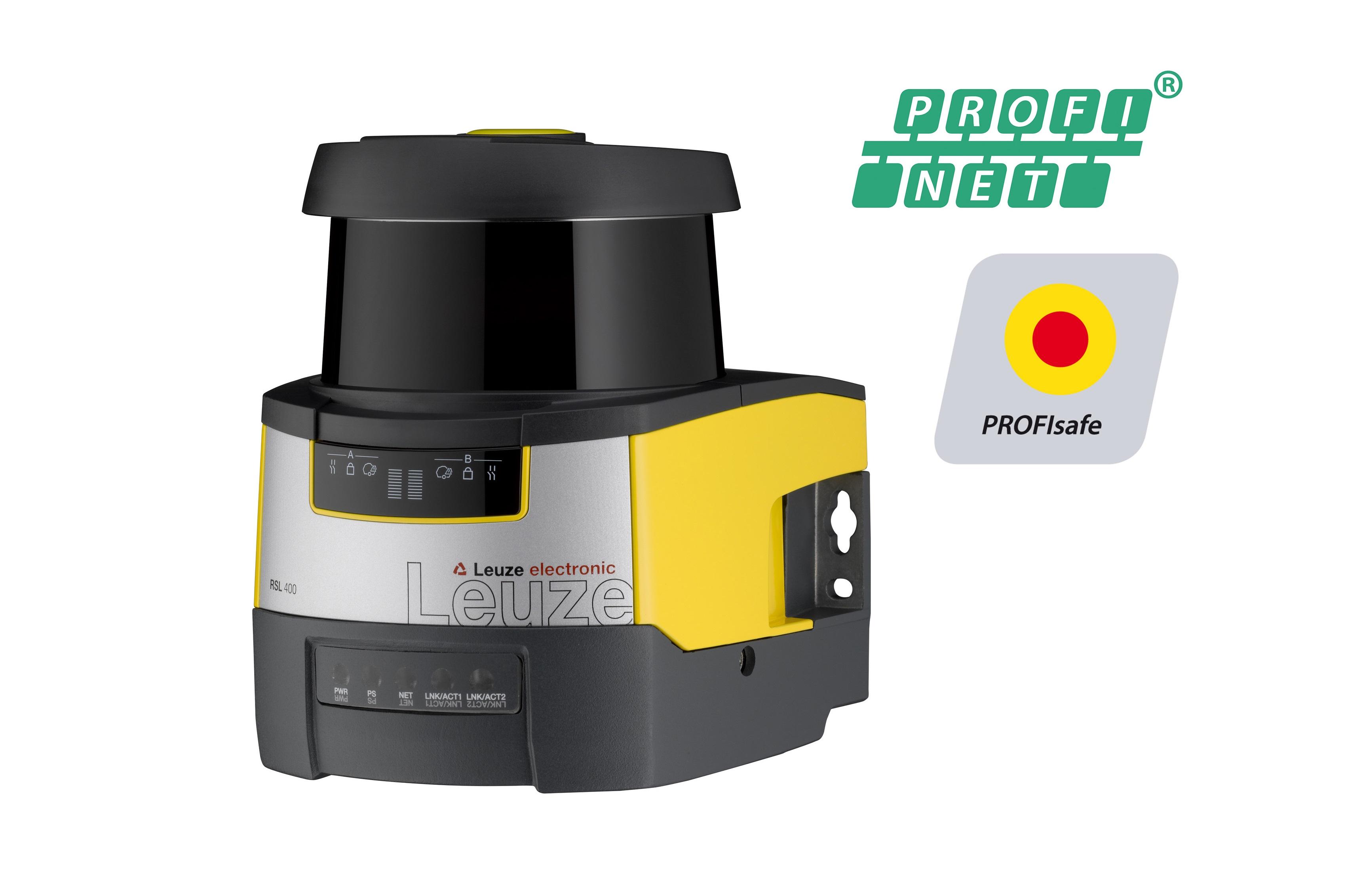 RSL 400 PROFIsafe con PROFINET: el éscaner láser de seguridad de Leuze