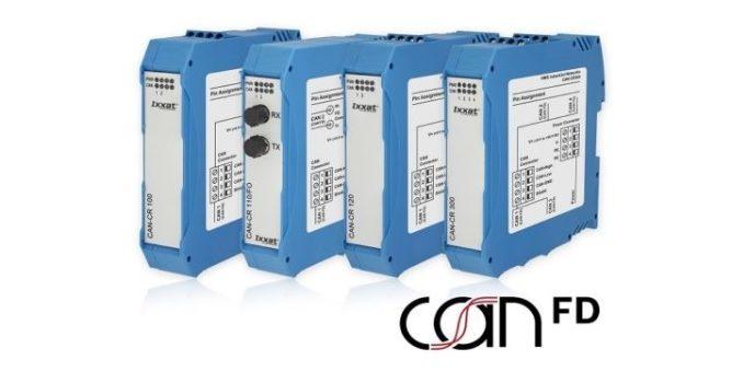 Nueva serie de repetidores Ixxat CAN FD de HMS Industrial Networks