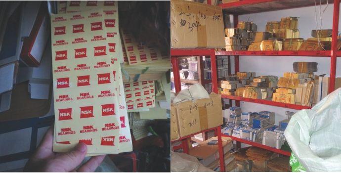NSK contra la falsificación: incautación en China de embalajes falsos de rodamientos