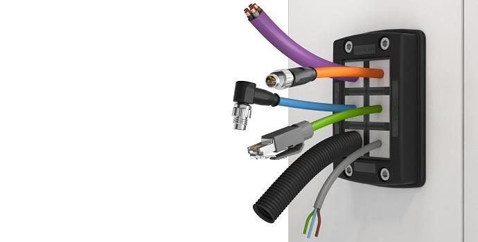 KDSClick de CONTA-CLIP: Sistema de paso de cables de fácil montaje con IP66
