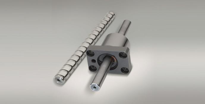 En una nueva serie de husillos a bolas de NSK, la tuerca y el eje están diseñados según el principio de emparejamiento aleatorio