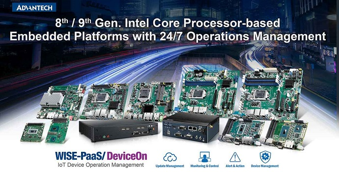Advantech lanza una plataforma embebida basada en el último procesador Intel Core con gestión de operaciones 24/7 para AIoT