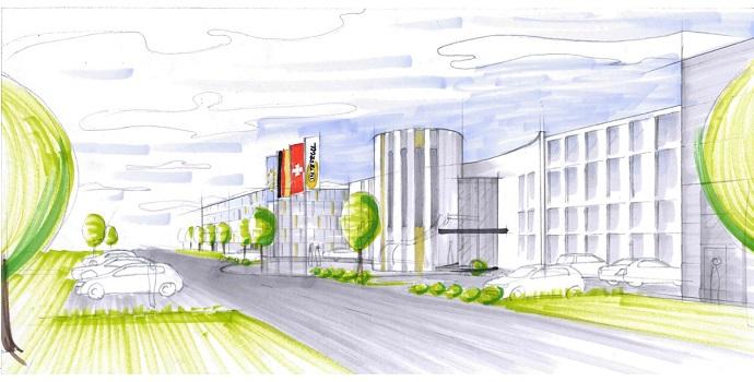Comienza la fase de ejecución de la nueva planta de Interroll en el sur de Alemania con 40 millones de euros de inversión