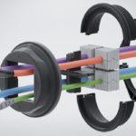Sistema KDS-R: Paso de cables modular para cables con clavijas de CONTA-CLIP