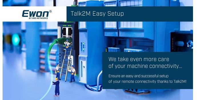 Talk2M Easy Setup hace que la conectividad de los equipos industriales sea más fácil que fácil