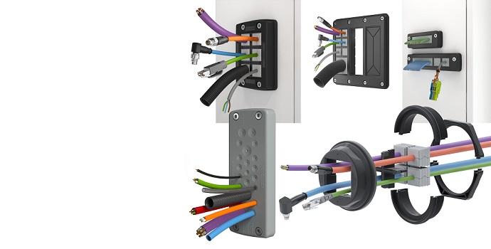 Sistemas de paso de cable KDS y KES con protección IP66 para todo tipo de formas y tamaños
