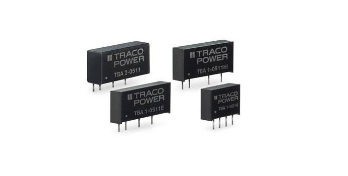 RS Components presenta tres nuevas líneas de convertidores DC-DC del fabricante suizo TRACO Power