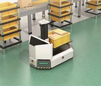 La unidad de rueda con sistema de tracción directa NSK para robots en ubicaciones silenciosas