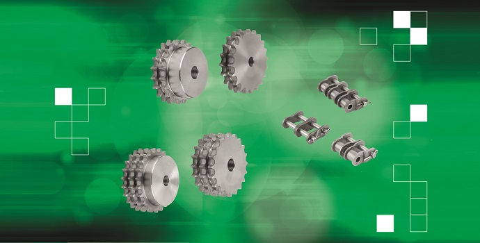 Las nuevas cadenas de rodillo y los piñones de norelem impulsan los potentes accionamientos de cadena
