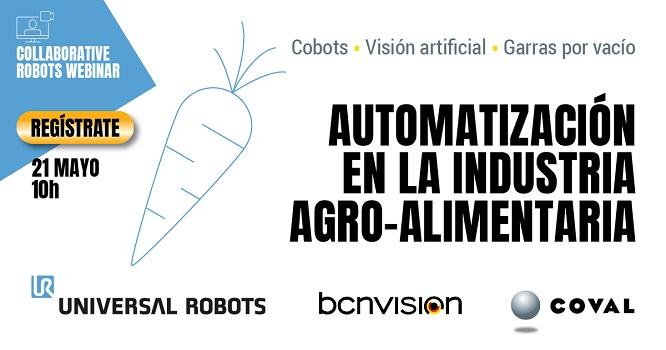 Nuevo webinar sobre automatización en la industria agro-alimentaria de la mano de COVAL, UR y Bencvision