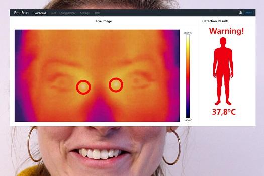 Soluciones para la medición de la temperatura corporal y control de accesos de INFAIMON