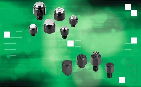 Los soportes con bola oscilante y los pies de posicionamiento de norelem ayudan a los ingenieros a pisar en firme