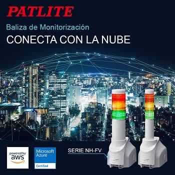 El sistema de monitorización de redes NH-FV de PATLITE que es compatible con Microsoft Azure y Amazon Web Services (AWS)