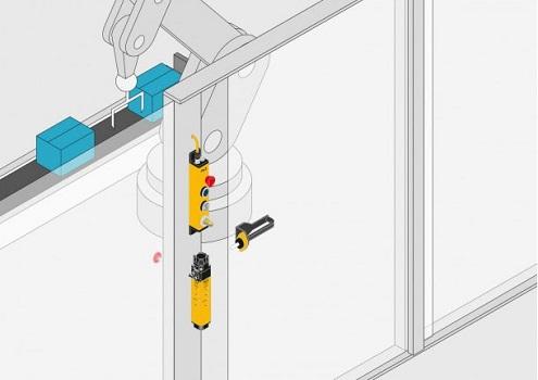 Safetyysecurityde la mano en el acceso de puertas con PITgatebox