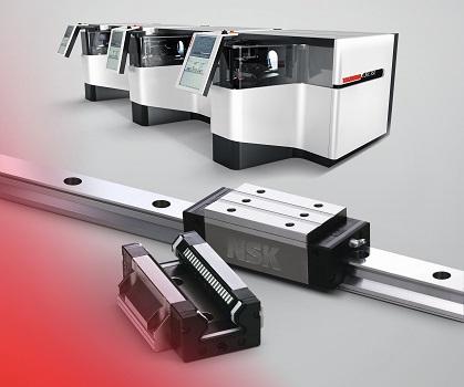 La nueva rectificadora sin centros Tschudin Cube 350 utiliza la serie RA de NSK de guías de rodillos de alta rigidez y baja fricción, que ayudan a generar unos excelentes niveles de acabado superficial en las piezas mecanizadas.