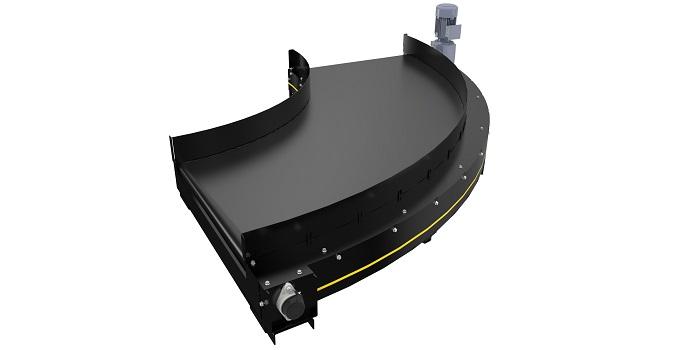 Interroll amplía su oferta de curvas de banda con Belt Curve 1200