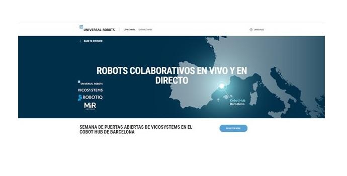 Robots colaborativos en vivo y en directo en el hub organizado por Universal Robots y Mobile Industrial Robots