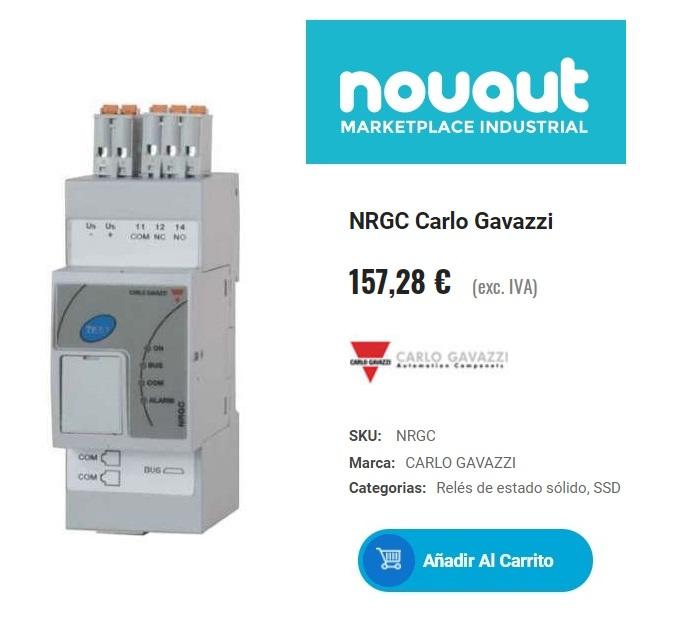 Relés digitales de estado sólido NRG con interfaz ETHERNET / IP™