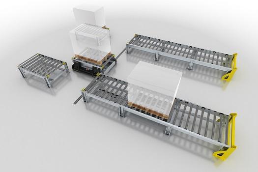 Nuevo transportador inteligente de paletas SPM de Interroll para potenciar el rendimiento en la logística de fabricación