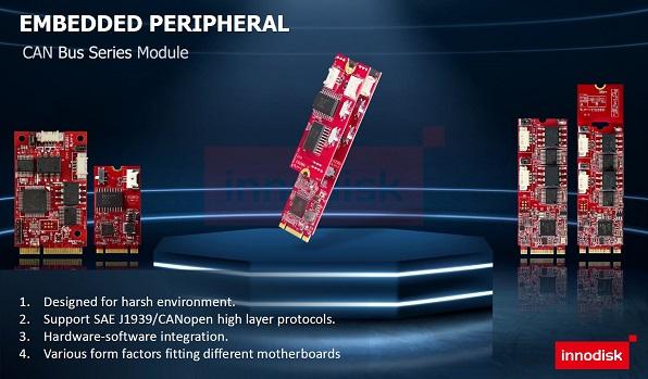 Innodisk presenta los módulos CAN Bus para sistemas inteligentes no tripulados