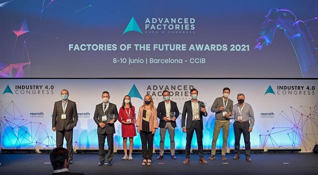 Ford, Ferrovial, Metron y la startup Color Sensing se alzan como ganadores de la quinta edición de los Factories of the Future Awards 2021